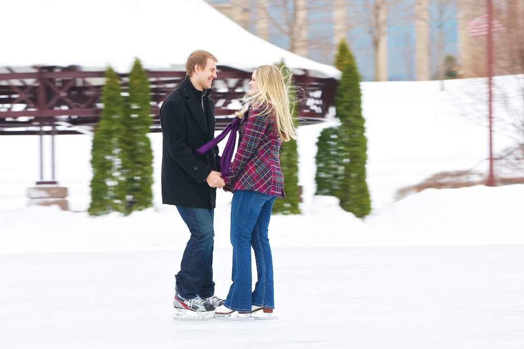 centennial lakes engagement photos winter