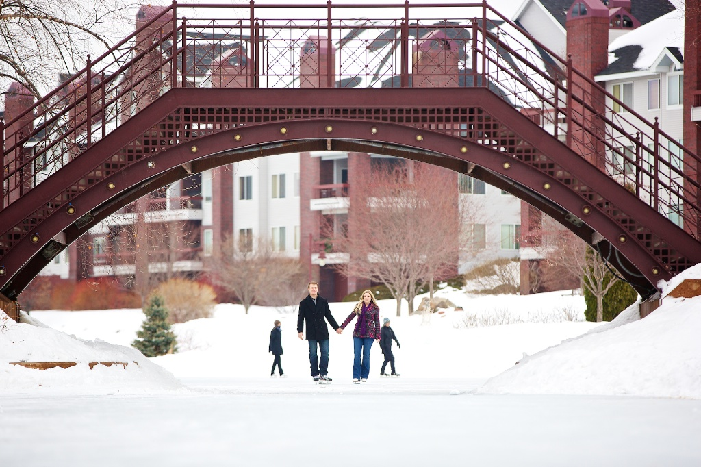centennial lakes engagement photos winter