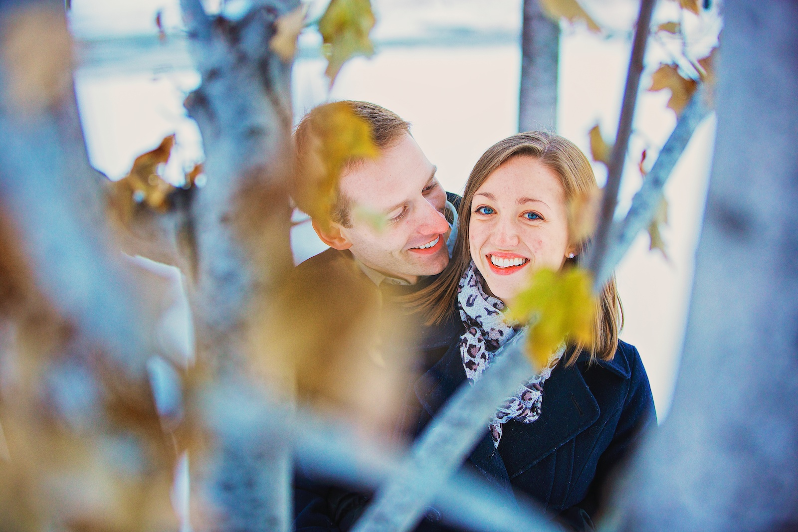 Minneapolis Winter Engagement Photos 2