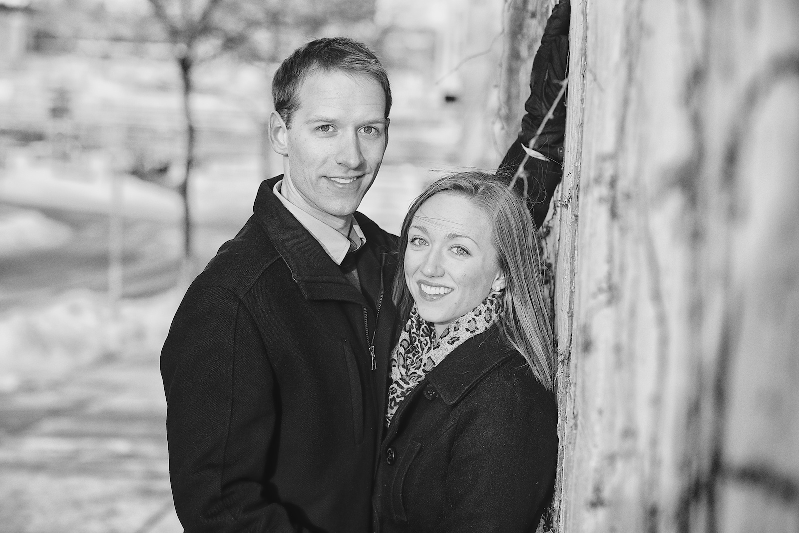 Minneapolis Winter Engagement Photos 4