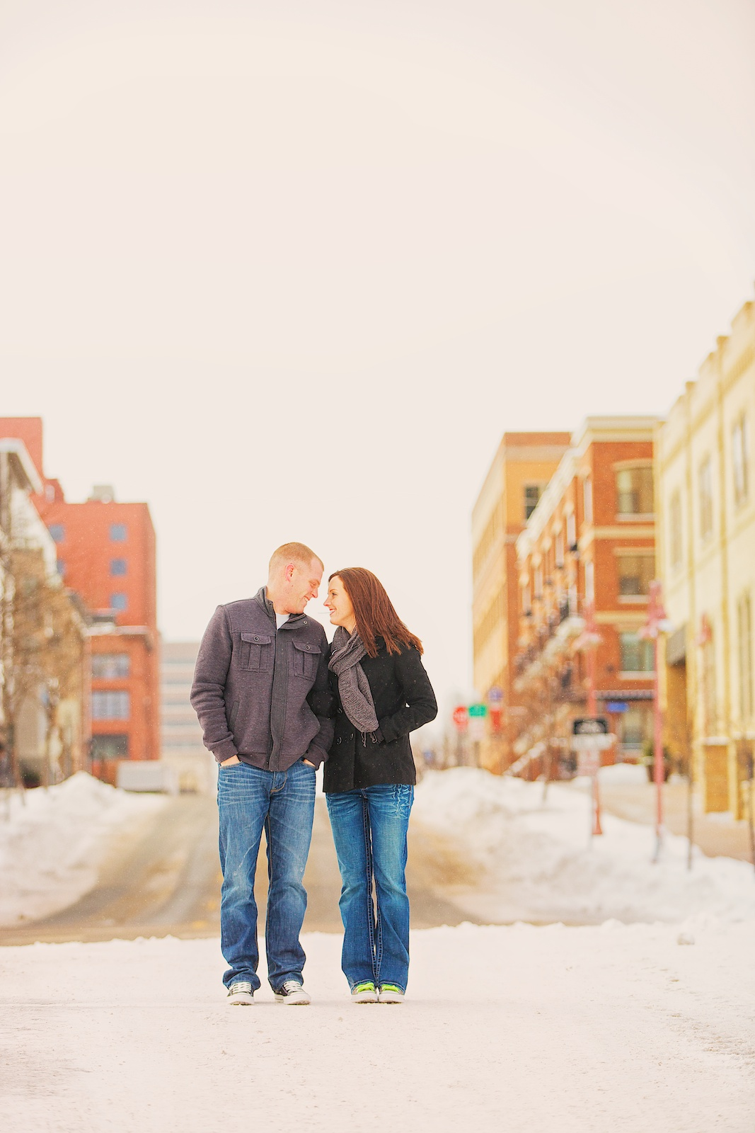 Minneapolis Winter Engagement Photos 4