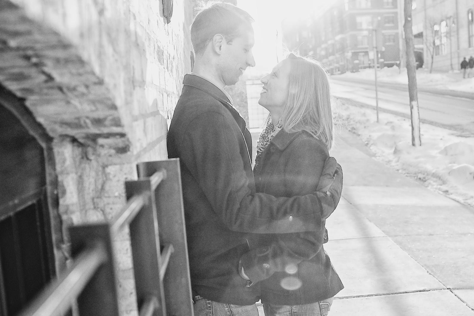 Minneapolis Winter Engagement Photos 5