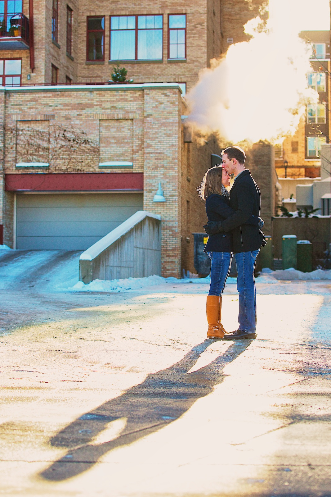 Minneapolis Winter Engagement Photos 7