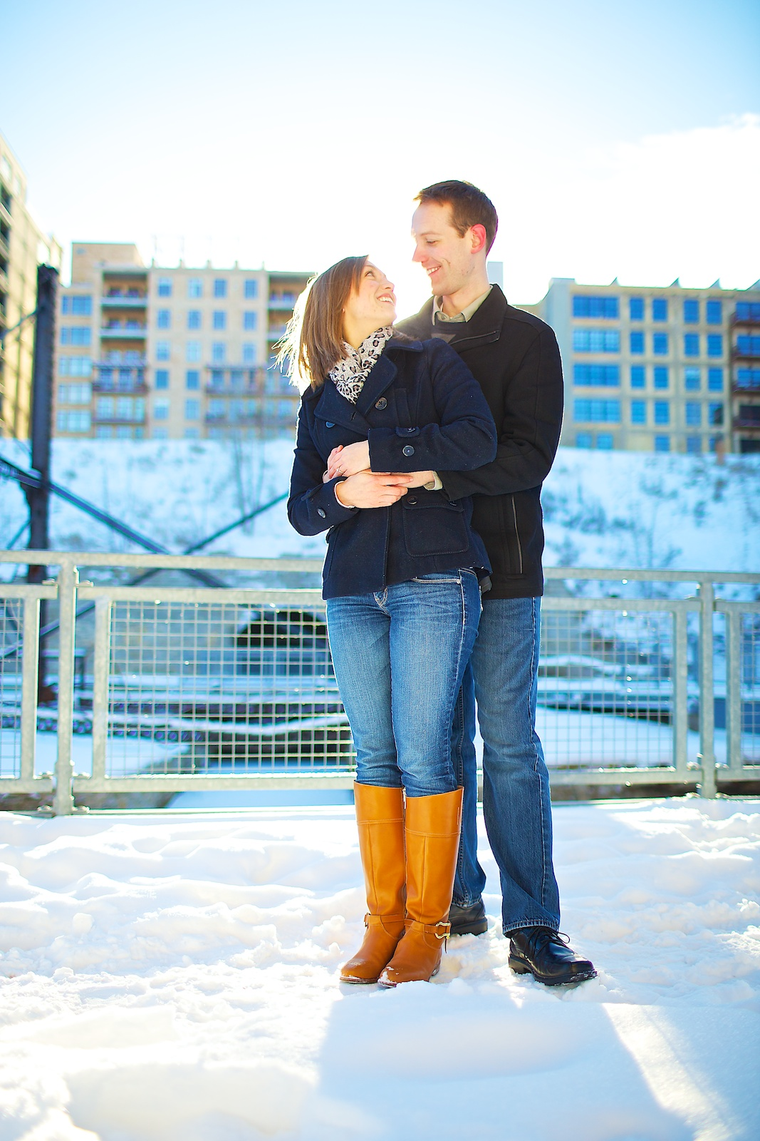 Minneapolis Winter Engagement Photos 8