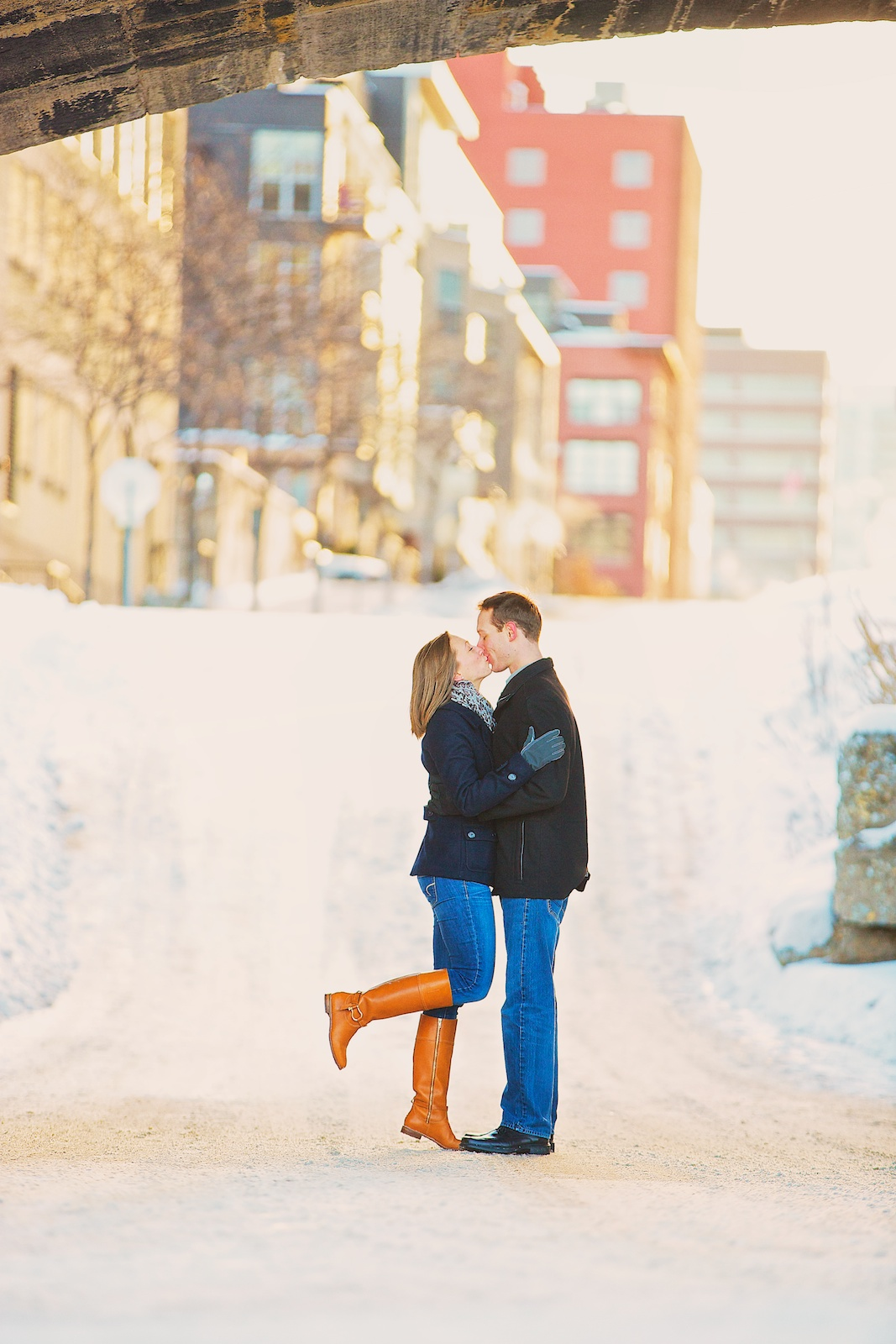 Minneapolis Winter Engagement Photos 9