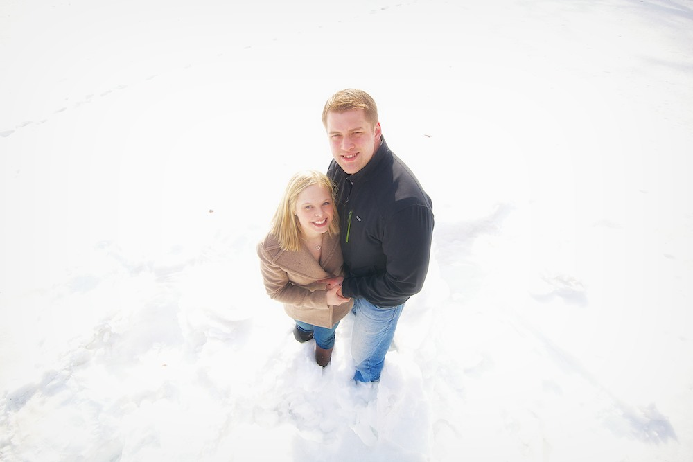 Minnehaha Winter Engagement Photos 1