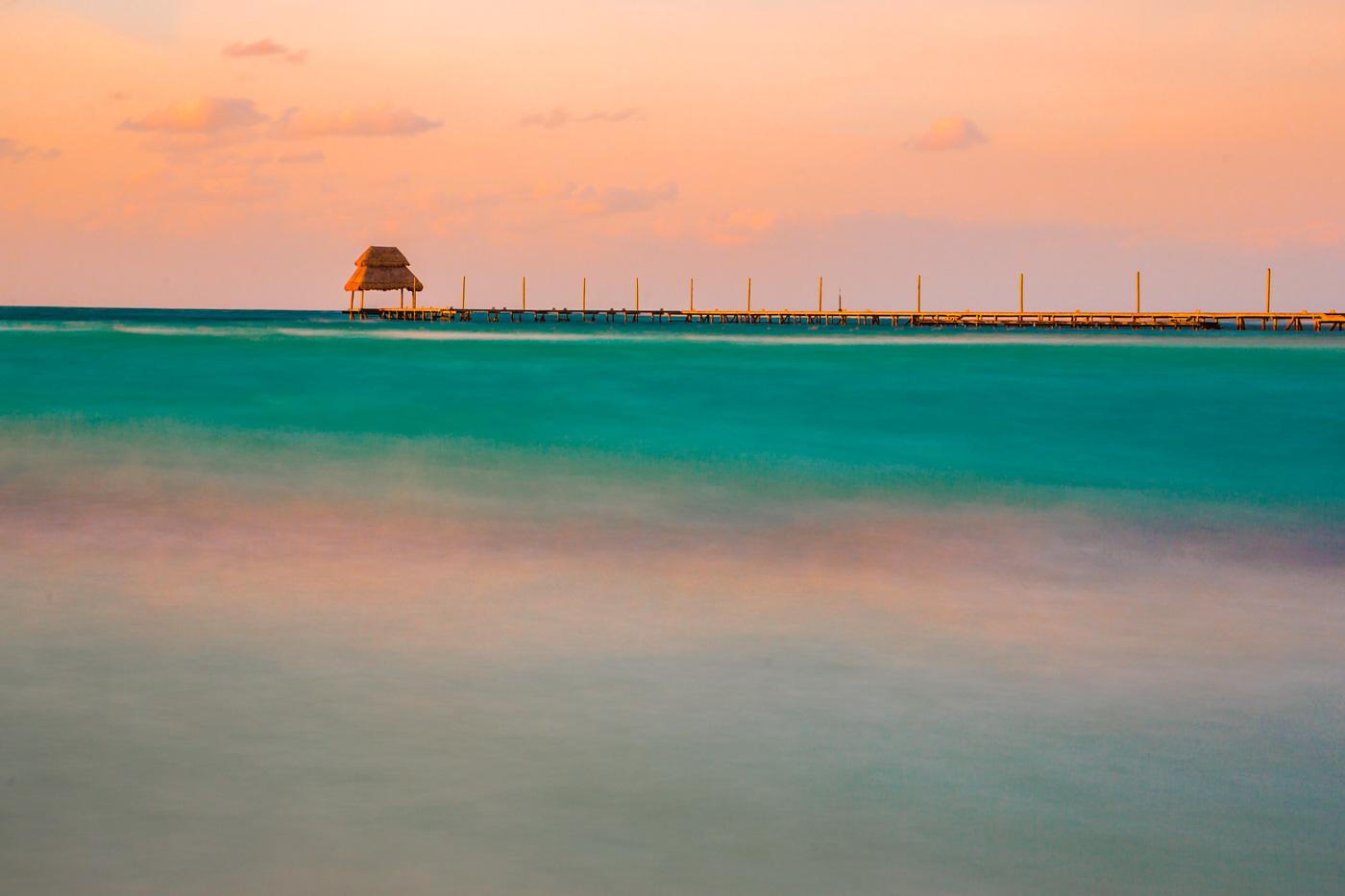 Pier in Ocean Photo
