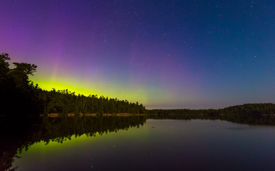 Boundary Waters Northern Lights Photo