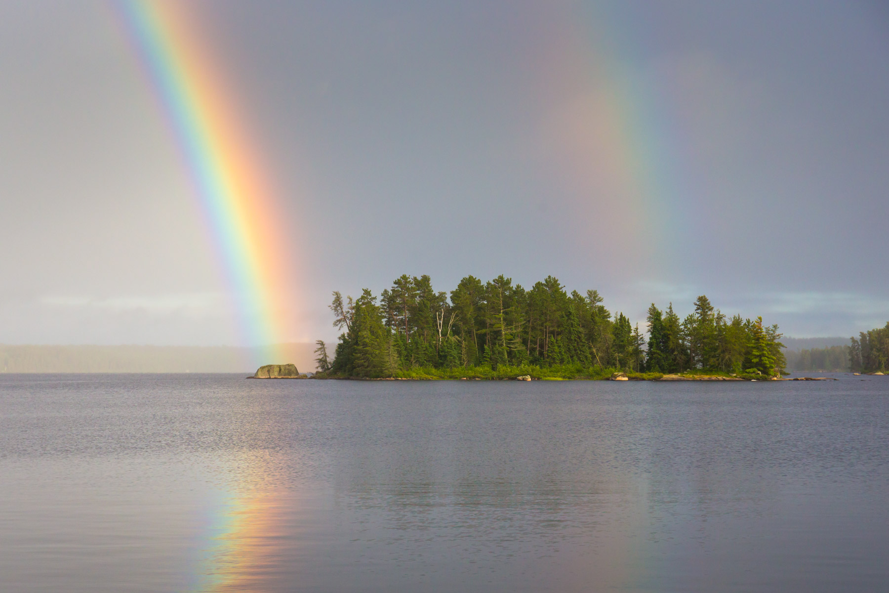 Boundary Waters Rainbow Photo