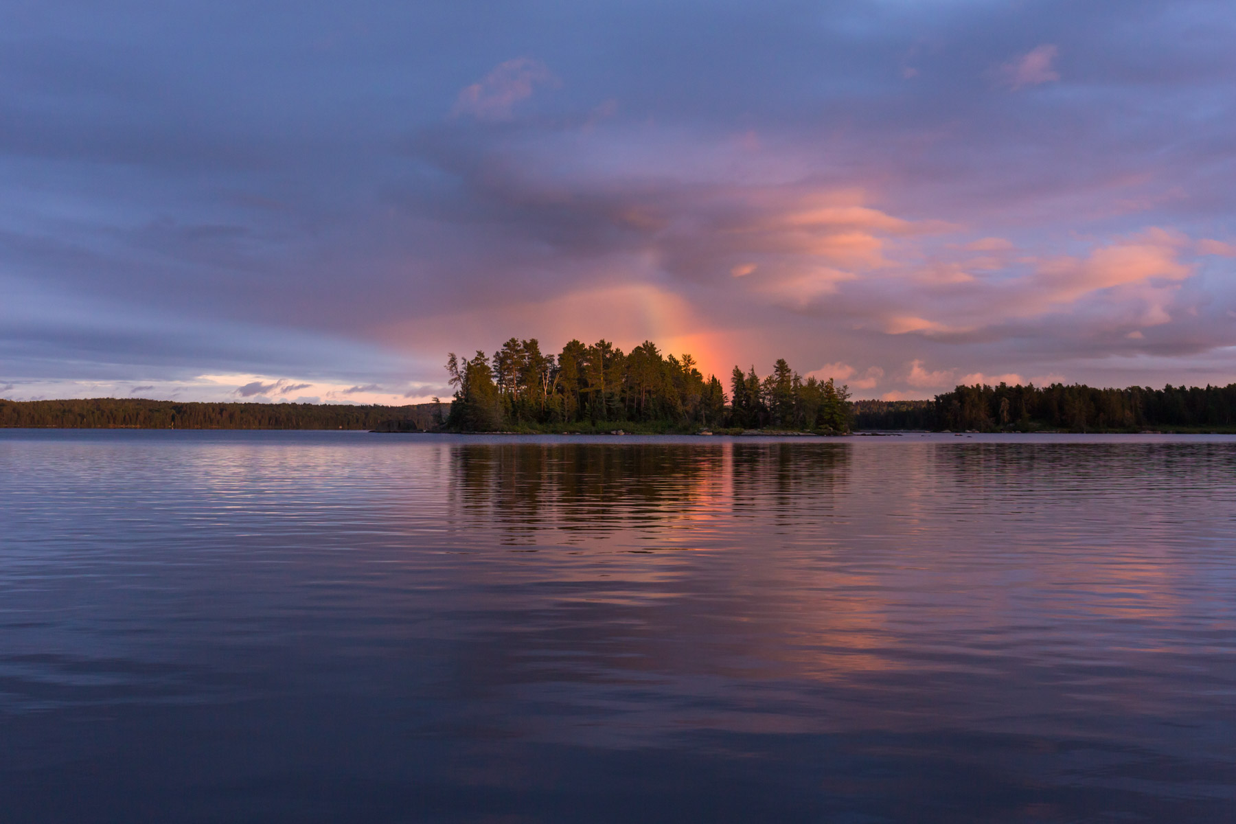 Boundary Waters Rainbow Photo